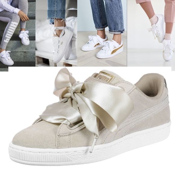 Basket Lace Nude Color Sneaker Heart Puma Up rWQoCxBde